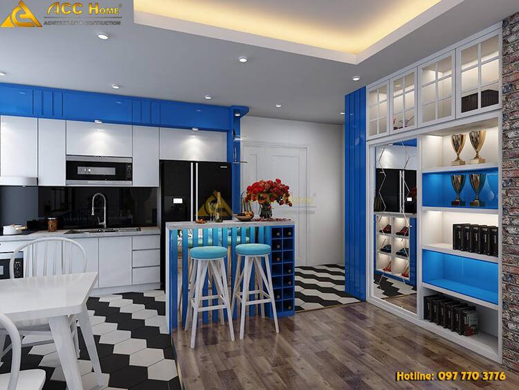 thiết kế phòng bếp nấu ăn