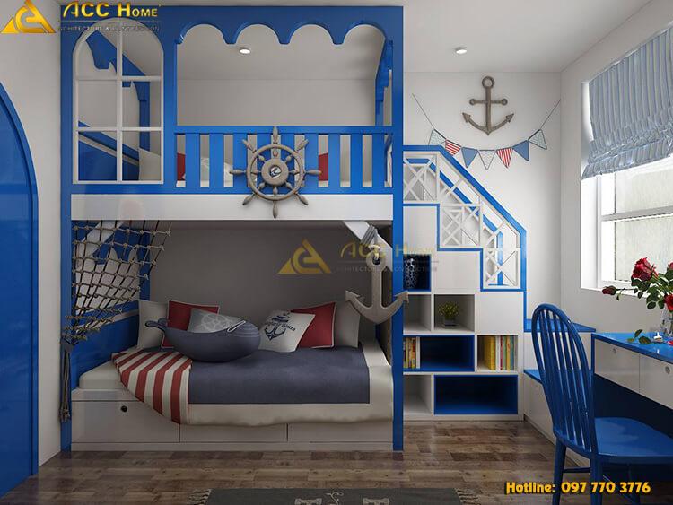 thiết kế phòng con trẻ
