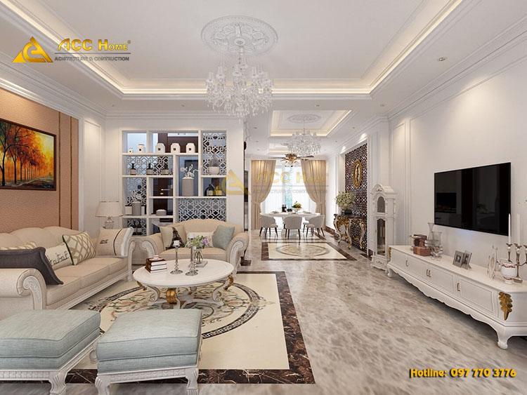 Thiết kế nội thất căn hộ chung cư 90m2 tại Bến Cát Bình Dương
