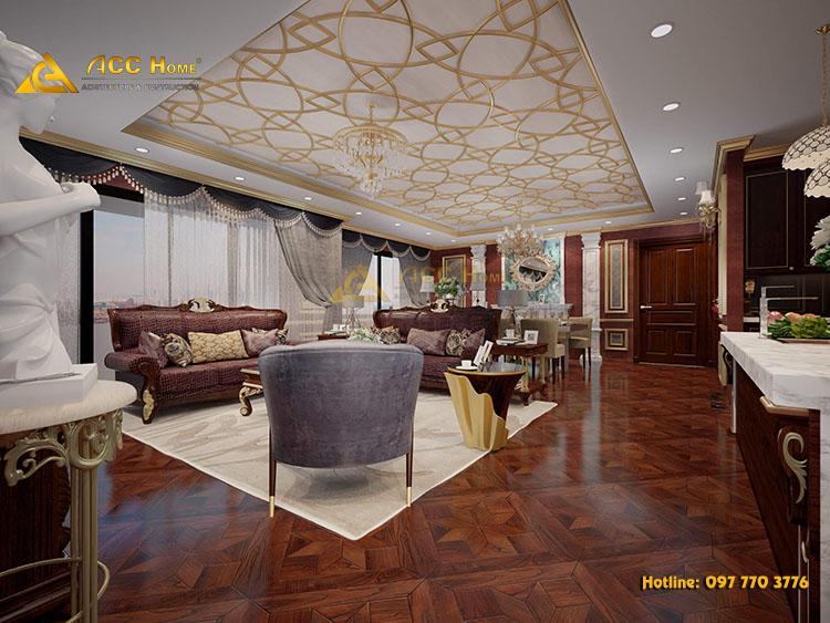 Thiết kế nội thất nhà chung cư cao cấp 220m2 tại Ecolakes Mỹ Phước