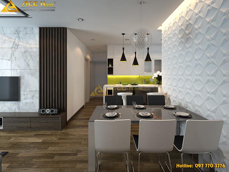 Không gian nội thất phòng ăn