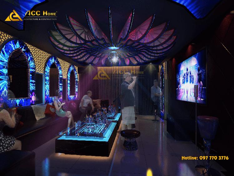 Thiết kế nội thất quán karaoke cổ điển tại Quận 1 Sài Gòn