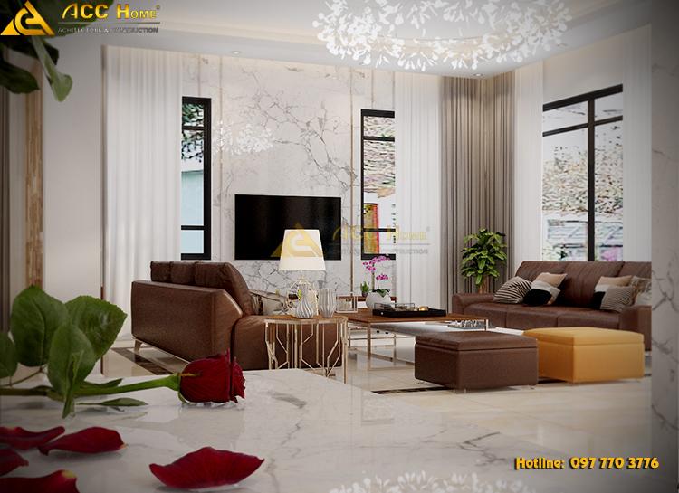 phòng khách ấn tượng với ghế sofa