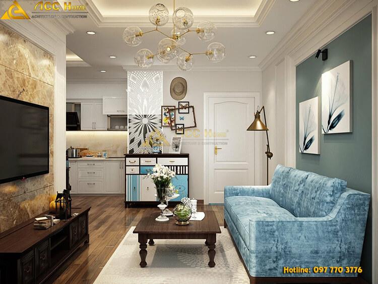 thiết kế nội thất tân cổ điển 110m2