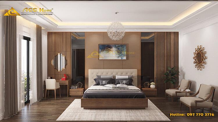 Một căn phòng ngủ rộng rãi và đầy đủ đồ nội thất cần thiết cho quá trình sử dụng hàng ngày!