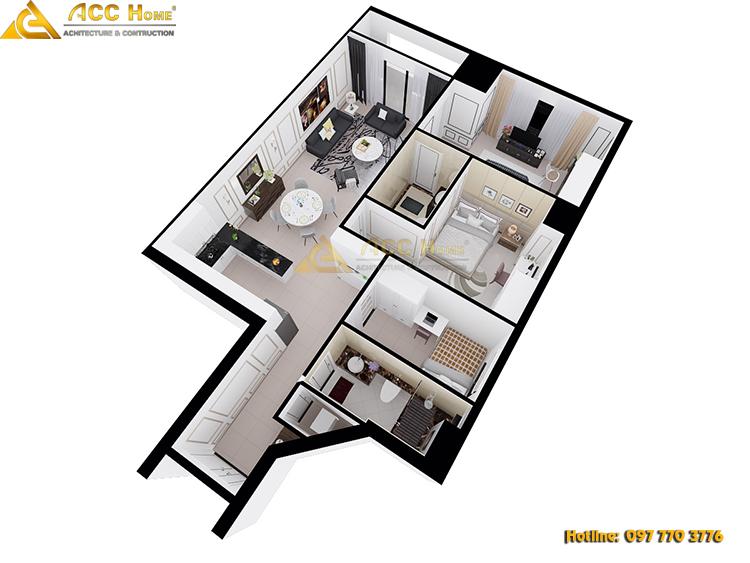 nội thất nhà 60m2
