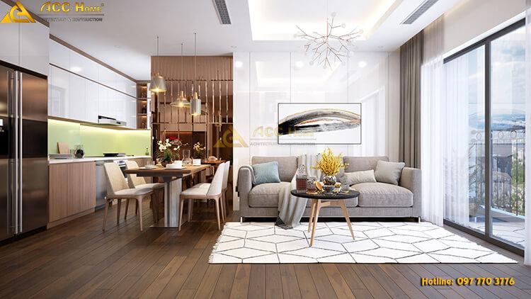Thiết kế nội thất chung cư cao cấp 130m2