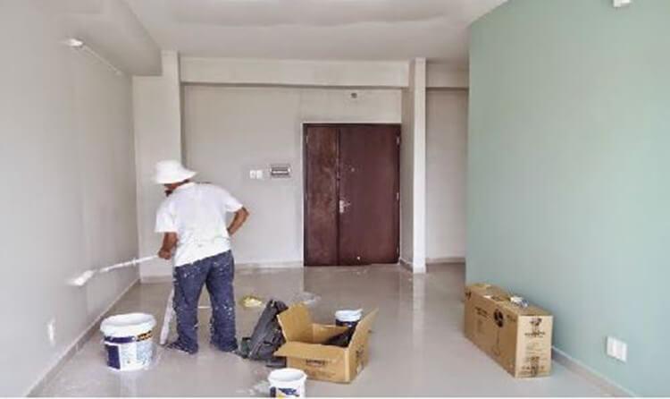 Trét bê, sơn nhà