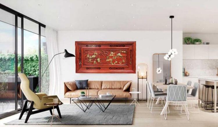 Tranh gỗ treo tường phòng khách