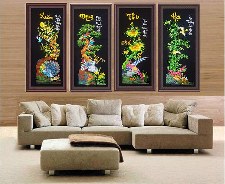 Tranh nghệ thuật mang đến chất riêng cho căn phòng