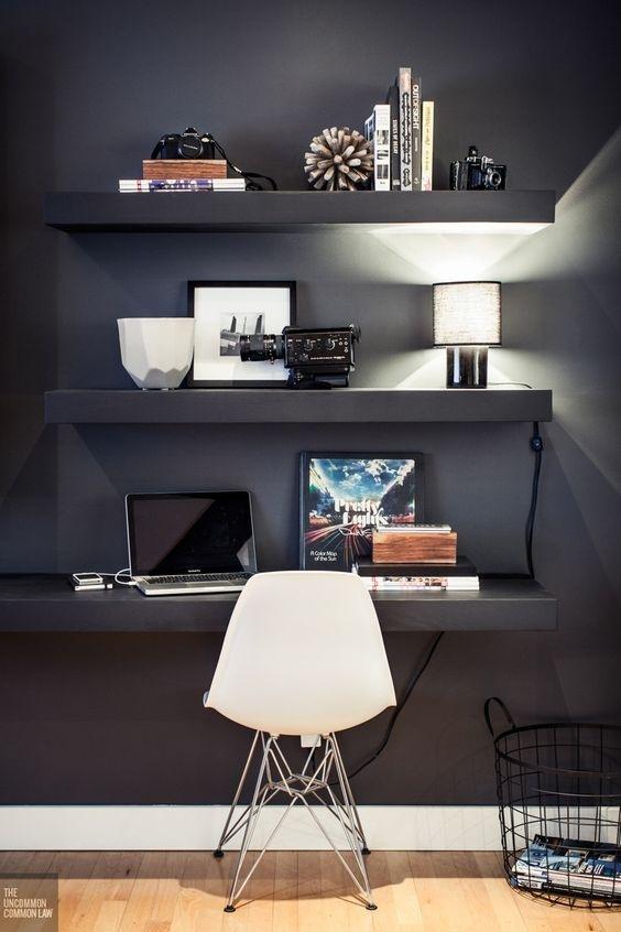 Ý tưởng design bàn làm việc dù ko gian chỉ vài mét vuông - Acc Home (6)