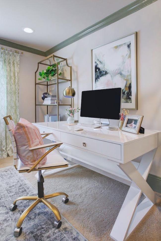 cách design phòng làm việc ngọt ngào lãng mạn 9
