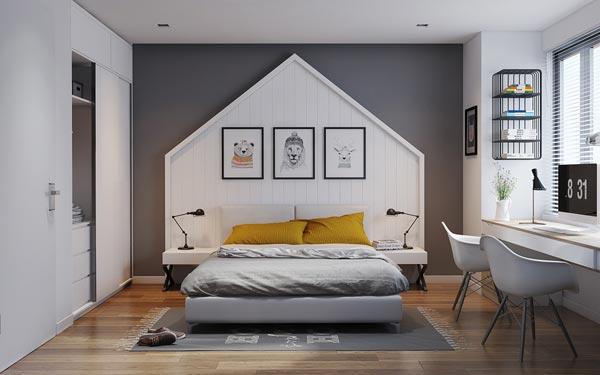 Thiết kế chung cư phong cách phong cách hiện đại kiểu Mỹ 2
