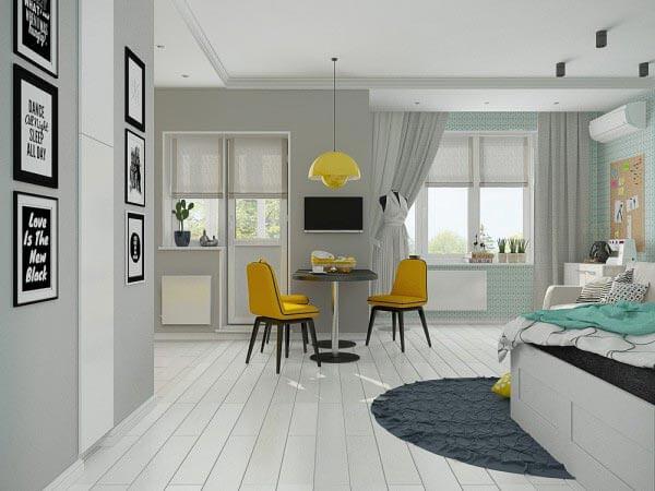 design chung cư với khoảng trống 40m 2 - 50m 2