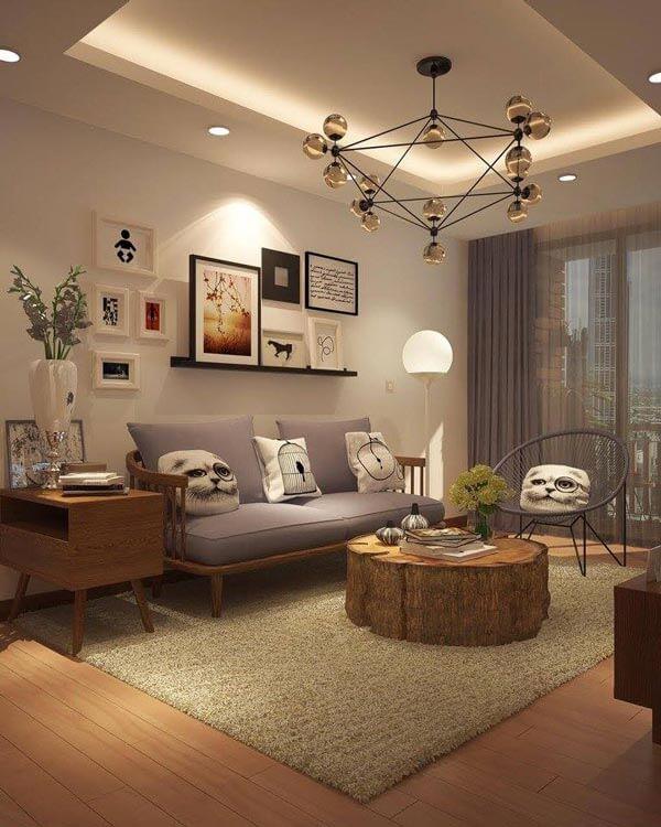 design căn hộ có khoảng trống từ 55m 2 - 60m 2