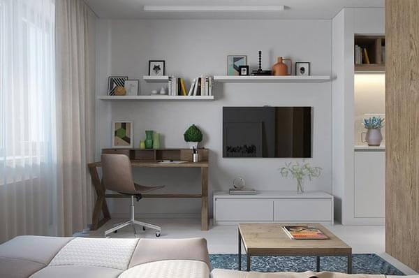 design nội thất chung cư với khoảng trống nhỏ 55-60m 2 3