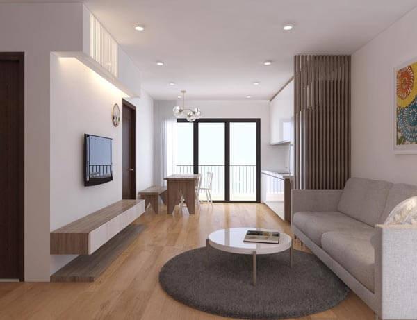 design căn hộ hiện đại khoảng trống 55m 2-60m 2