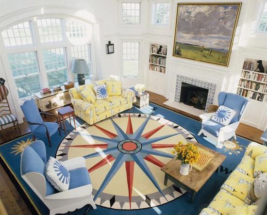 Những mẫu thảm trải sàn phòng tiếp khách độc đáo khó rời mắt - Acc Home (2)