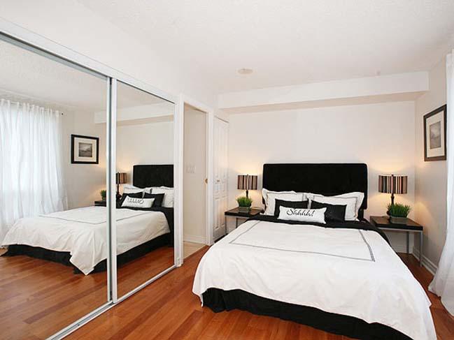thêm gương kính thích hợp cho những căn phòng bedroom nhỏ nhắn