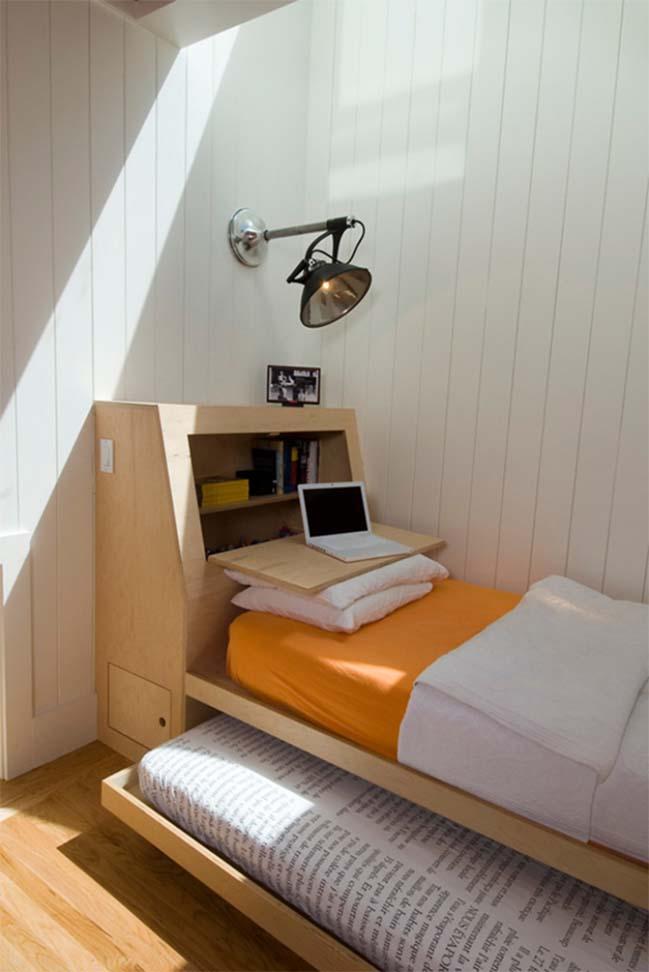 Giường ngủ 2 trong 1 cho phòng bedroom nhỏ