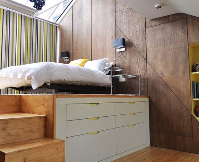 Hệ giường tủ phối kết hợp xếp đặt cho phòng bedroom ko gian nhỏ