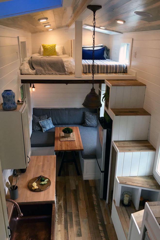 gác lửng đẹp với chỗ ngủ dành riêng cho hai người