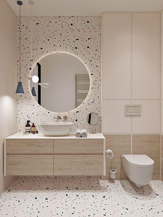 Gạch phòng tắm mẫu gạch be-tong đá mài