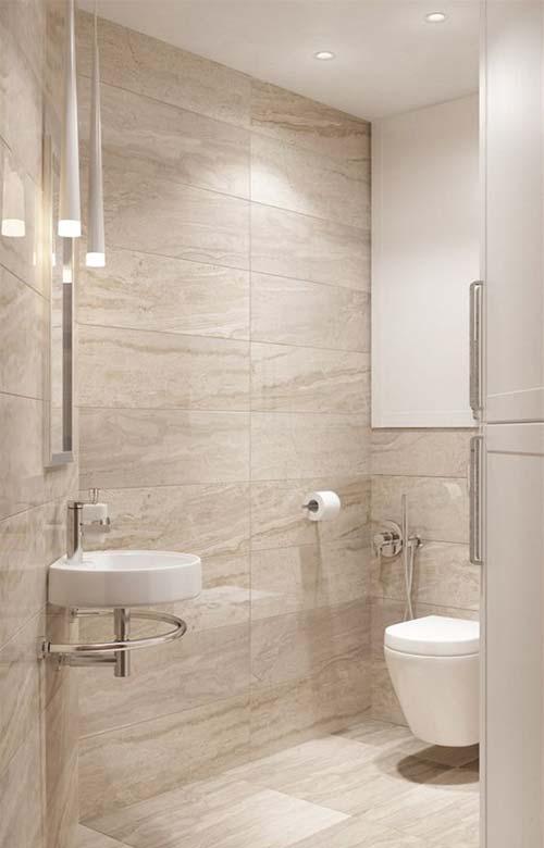 Chọn gạch phòng tắm có kích thước lớn